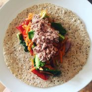 Tuna Salad Quinoa and Chia wrap