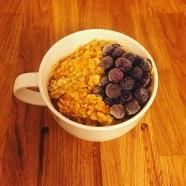 Pumpkin Porridge, Frozen Blueberries
